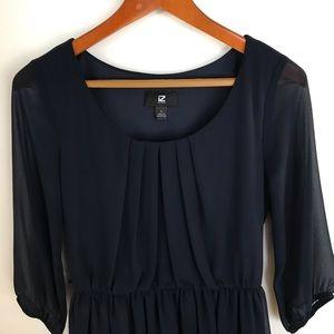 iZ Byer Navy Blue Dress